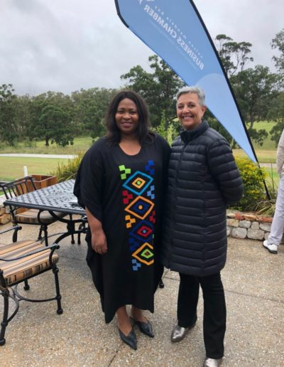 With CEO Nelson Mandela Bay Business Chamber, Nomkhita Mona..at their annual Golf Day