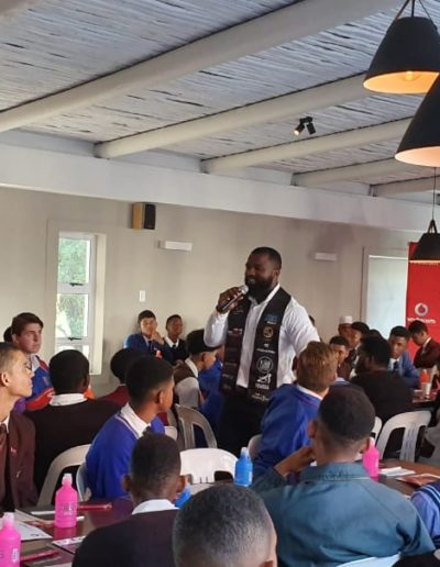 2nd year: Grade 11 Boys workshop, partnered with Vodacom and the Nelson Mandela Bay Business Chamber