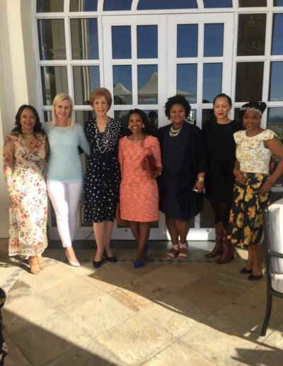 With some of the city's leading Businesswomen, who formed a Panel, at a Mothers Day Tea, at the Boardwalk