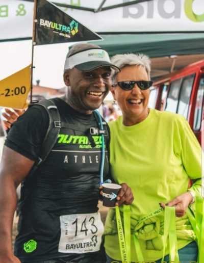 Race Finisher, Luvuyo Bangazi..at the 2020 Bay Ultra, powered by Amobia