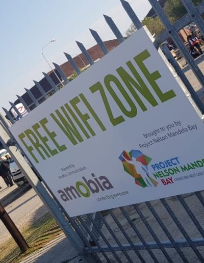 Project Nelson Mandela Bay and Amobia: free wifi zone