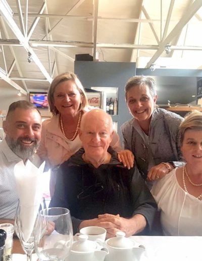 With the legendary Pieter-Dirk Uys, and special friends