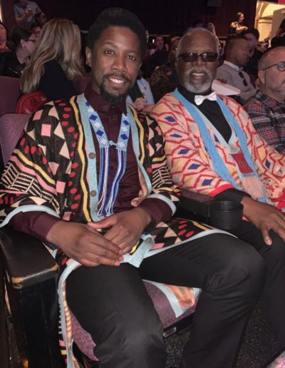 Dear friend and Theatre Legend, John Kani...and his son, Athandwa
