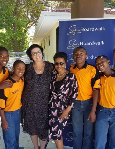 With Niqui Cloete-Barass and the always loved Khayalethu Boys