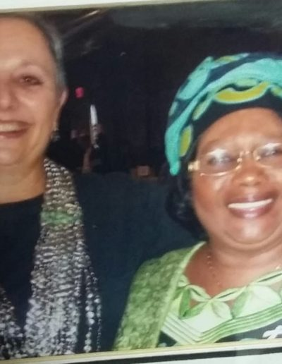 In New York....attending a Women's Conference..several years ago....with then Deputy President, Malawi, Joyce Banda